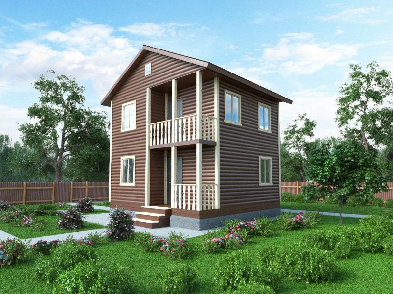Дом 6 на 4 двухэтажный